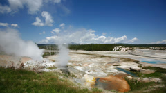 Timelapse of clouds over Norris Geyser Basin Stock Footage