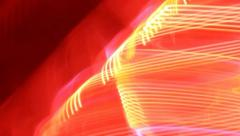 Camera is moving, light leave traces. Timelapse of neon lights, click for HD Stock Footage