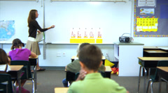 Elementary school class Stock Footage