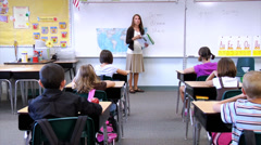 Stock Video Footage of Elementary school classroom