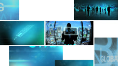 3D video montage business manager using touch screen technology Stock Footage