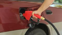 Filling up car with gas Stock Footage