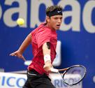 Stock Photo of Serbian tennis player Filip Krajinovic