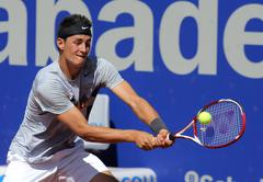 Australian tennis player Bernard Tomic Stock Photos