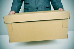 Businessman moving office Stock Photos