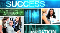 Video business montage managers using online technology - stock footage