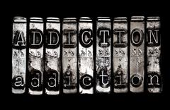addiction concept - stock photo