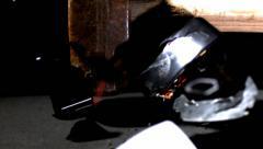 Sledge hammer smashing clock, slow motion Stock Footage