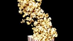 Spilling popcorn, slow motion Stock Footage