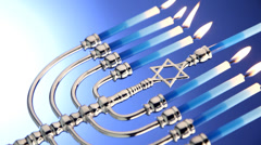 Menorah still life Stock Footage