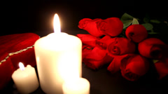Valentine's Day by candlelight Stock Footage