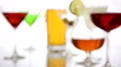 Alcoholic Beverages, Rack Focus Stock Footage