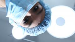 Waking up from surgery - stock footage