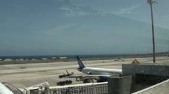 Aeropuerto de Gando in Gran Canaria Stock Footage