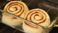 Stock Video Footage of Time lapse shot of cinnamon rolls baking in oven