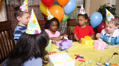 Children's birthday party Stock Footage