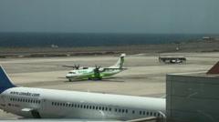 Binter Airline at Aeropuerto de Gando in Gran Canaria Stock Footage
