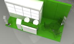 Exhibition Stand Interior - Exterior Sample - stock illustration