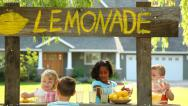 Stock Video Footage of Children with lemonade stand