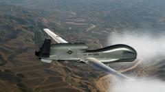 Globa hawk uav unmanned aerial vehicle Stock Footage