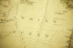 india ocean map - stock photo