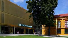 Munich, museum lenbachhaus Stock Footage