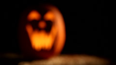 Jack o Lantern, rack focus - stock footage