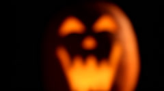 Scary jack o lantern, shaky camera movement - stock footage