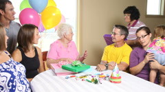 Birthday party - stock footage