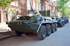 armoured troop-carrier wheeled - stock photo