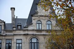 An old building in Antwerp, Belgium. - stock photo