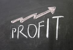 up profit sign - stock photo