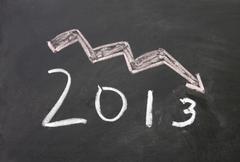 Pessimistic 2013 sign Stock Photos