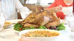 Thanksgivng turkey dinner Stock Footage