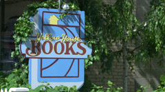 Bright yellow book store (3 of 3) Stock Footage