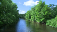 Stock Video Footage of Beautiful river running through the greenery (6 of 7)