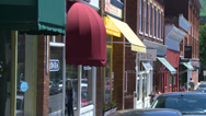 Stock Video Footage of Colorful shop awnings