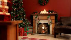 Stock Video Footage of Christmas interior