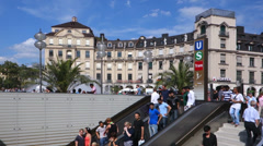 Munich, karlsplatz, stachus Stock Footage