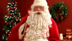 Santa Claus says HO-HO-HO - stock footage