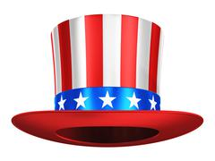 Uncle Sam hat - stock illustration
