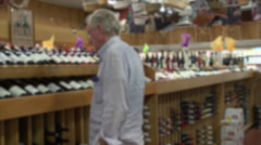 Wine selection (1 of 3) Stock Footage