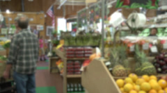 Grocery shopping (2 of 7) Stock Footage