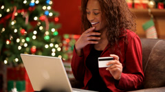 Christmas shopping online Stock Footage