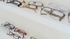 Glasses shopping (3 of 5) Stock Footage