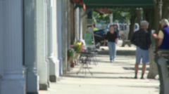 Daily hustle and bustle in the village (7 of 7) Stock Footage