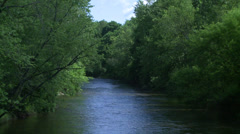 Beautiful river running through the greenery (5 of 7) Stock Footage