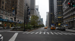 Manhattan, New York city in early morning with almost no traffic Stock Footage