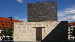 Synagogue and jewish museum in munich Stock Footage