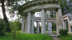 apollo colonnade in Pavlovsk park St. Petersburg Russia - stock footage